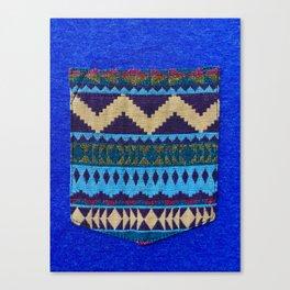 Blue Pocket Design Canvas Print