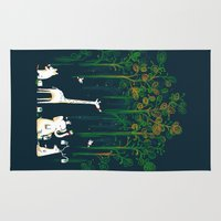 forest Area & Throw Rugs featuring Re-paint the Forest by Picomodi