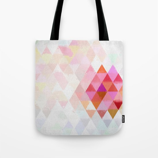Abstract pink pastell triangle pattern- Watercolor illustration Tote Bag