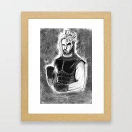 Seth Rollins - King of Kings mask Framed Art Print