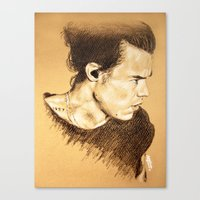 harry styles Canvas Prints featuring Harry Styles by Drawpassionn