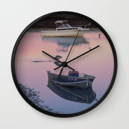Two boats one seagull Wall Clock