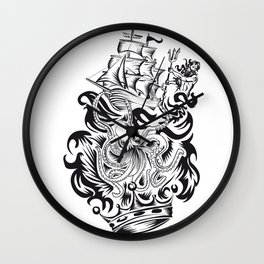 ONE INK OCTOPUS Wall Clock