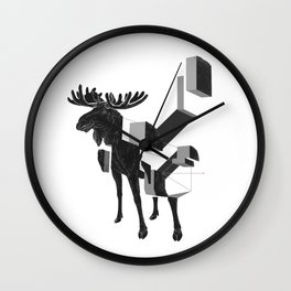 moose_deconstructed Wall Clock