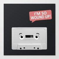 cassette Canvas Prints featuring Cassette by Dylan Morang