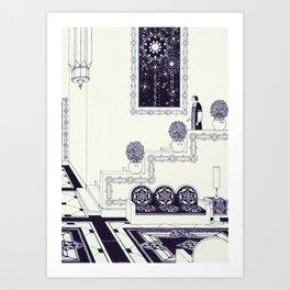Entrance - Vintage Illustration Art Print