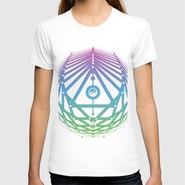 Radiant Abundance (white-cool gradient) T-shirt