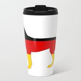 German Flag - Dobermann Pinscher Metal Travel Mug