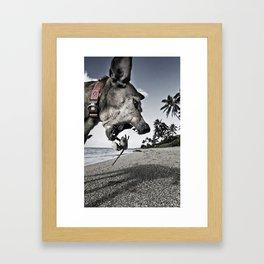 Life is a bitch! Framed Art Print