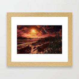 Kepler 186f b Framed Art Print