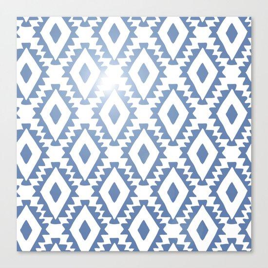 Aztec geometrics - chambray Canvas Print