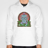 ganesh Hoodies featuring peace ganesh by Peter Patrick Barreda