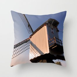 1745 Windmill sundown Throw Pillow