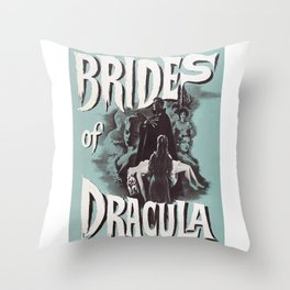 Brides of Dracula, vintage horror movie poster Throw Pillow