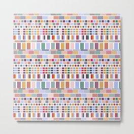 Geometric Kilim in White Metal Print