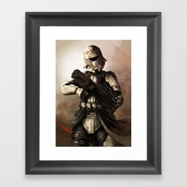 Desert Tank Trooper Framed Art Print