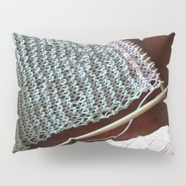 knitting, knitting photos, oatmeal color, peach, natural color, scarf, cotton Pillow Sham