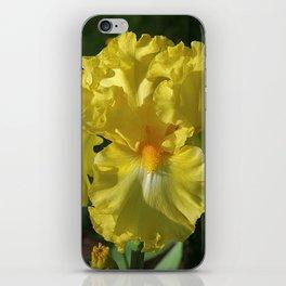 Golden Iris flower - 'Power of One' iPhone Skin