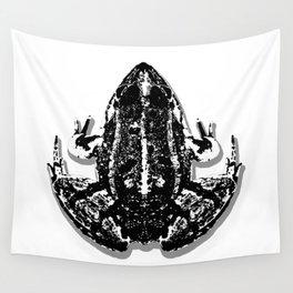 European Frog (B&W) Wall Tapestry