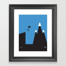 WTF? Ski Framed Art Print