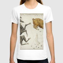 (1831) astronomical chart  of the Canis Major Lepus Columba Noachi and the Cela Sculptoris T-shirt