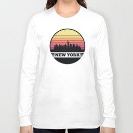 New York Skyline Long Sleeve T-shirt
