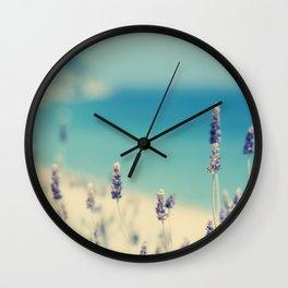beach - lavender blues Wall Clock