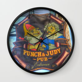 The Punch And Judy Pub Sign Wall Clock