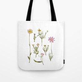 Pressed Flowers Tote Bag