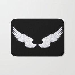 White Angel Wings Bath Mat