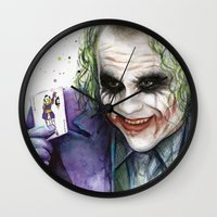 joker Wall Clocks featuring Joker  by Olechka