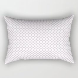 Orchid Ice Polka Dots Rectangular Pillow