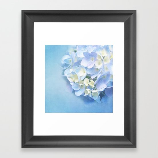 BABY BLUE FLOWER DREAM Framed Art Print