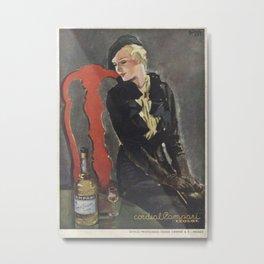 Vintage Cordial Campari Advertisement by Alberto Bianchi Metal Print