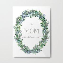 Garland for Mom Metal Print