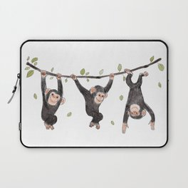 Baby Chimps at Play Laptop Sleeve