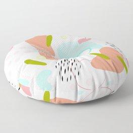 Organic Nature - Memphis Pattern on white Floor Pillow