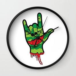 Rock Melon (white) Wall Clock