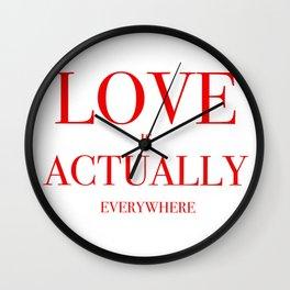 Love Everywhere Wall Clock