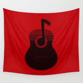 Classical Notes RED Wall Tapestry