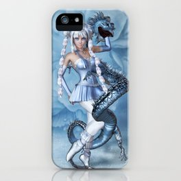 Manga Blue Dragon iPhone Case