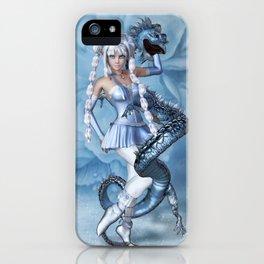 Manga Blue Dragon iPhone Case