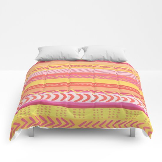 Tribal#1 (Orange/Pink/Yellow) Comforters