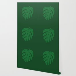 Green Monstera Leaf Wallpaper
