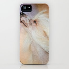 Wind In Her Hair - Chinese Crested Hairless Dog iPhone Case
