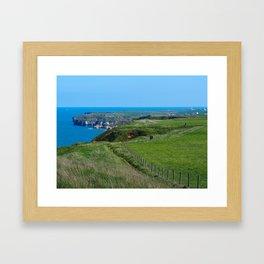 Yorkshire Coastal Path Framed Art Print