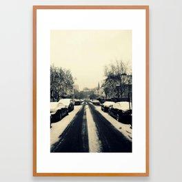 Streets of Wintry Framed Art Print