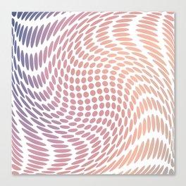 Polka dots distorted Canvas Print