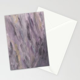 Touching Lavender Black Gold Watercolor Abstract #1 #painting #decor #art #society6 Stationery Cards