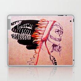 Girl with Skull and Headdress Laptop & iPad Skin